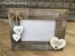 Shabby personalised Chic Photo Frame Wedding Day Gift For Bride From Bridesmaid - 232651377732